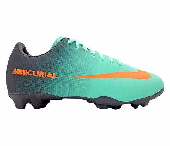 cff41517ba376 Chuteira Campo Nike Mercurial Verde Água e Preto - Esportes e ...