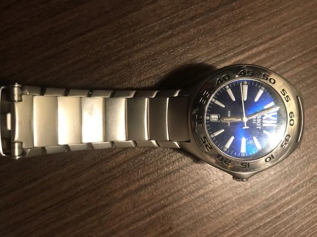 Relógio Tissot fundo Azul * Original * Aceito troca - Foto 3