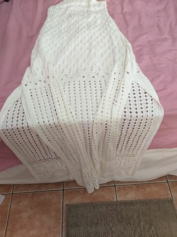 Vestido longo em tricô P/M - Foto 3