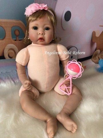 Bebê Reborn Mel - Pronta Entrega! Com enxoval e bolsa - Foto 4