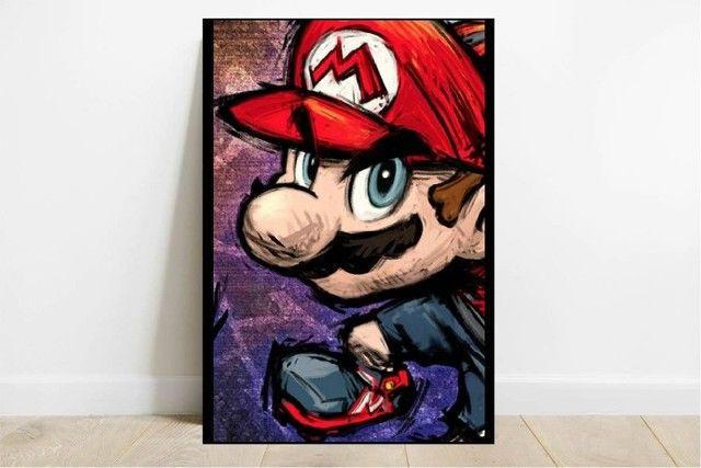 Quadro Decorativo MDF - Jogos Clássicos - Mario, Pac-Man, Mortal Kombat - Foto 2