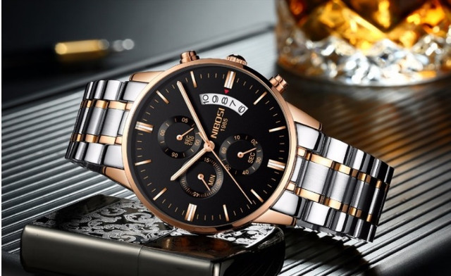 Relógio Nibosi Dourado 2309 - Foto 3