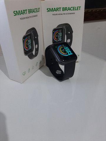Relógio Smartwatch D20 - Bluetooth Pressão Arterial Frequência Cardíaca Oxigênio no sangue - Foto 2