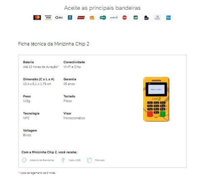 Maquina de Cartão Minizinha Chip - Foto 5