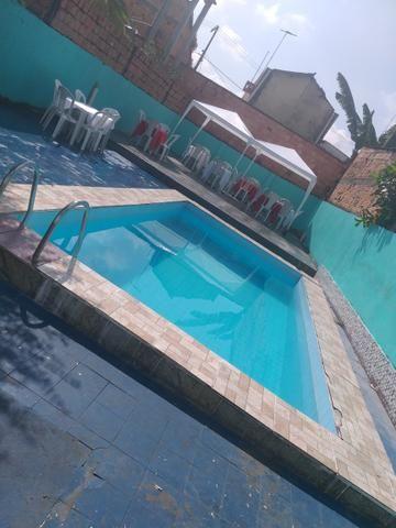 Área para eventos com piscina