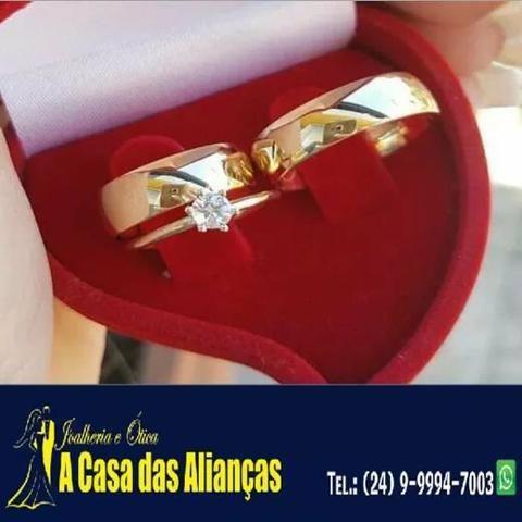 Alianças ouro 18 kilates / lindos modelos - Foto 4