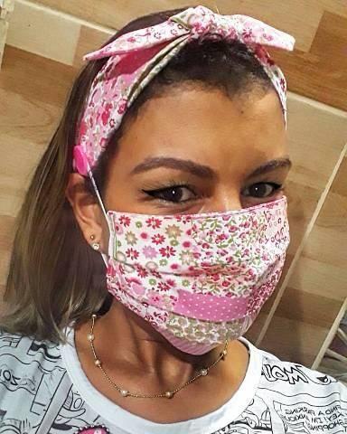 Máscara + Tiara de Tecido  - Foto 6