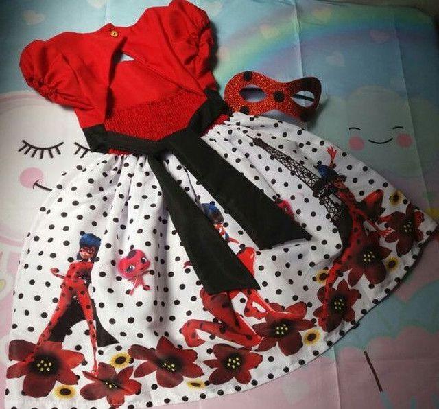 Fantasia Ladybug Vários Tamanhos - Foto 2