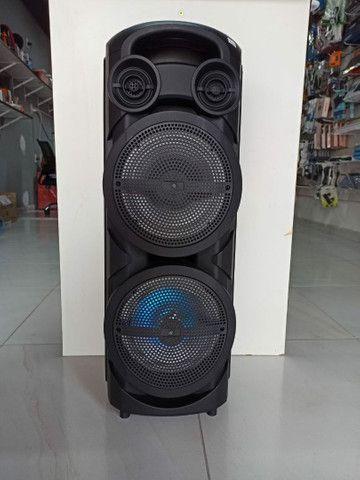 Caixa de Som Torre com Microfone Sem fio - Foto 2