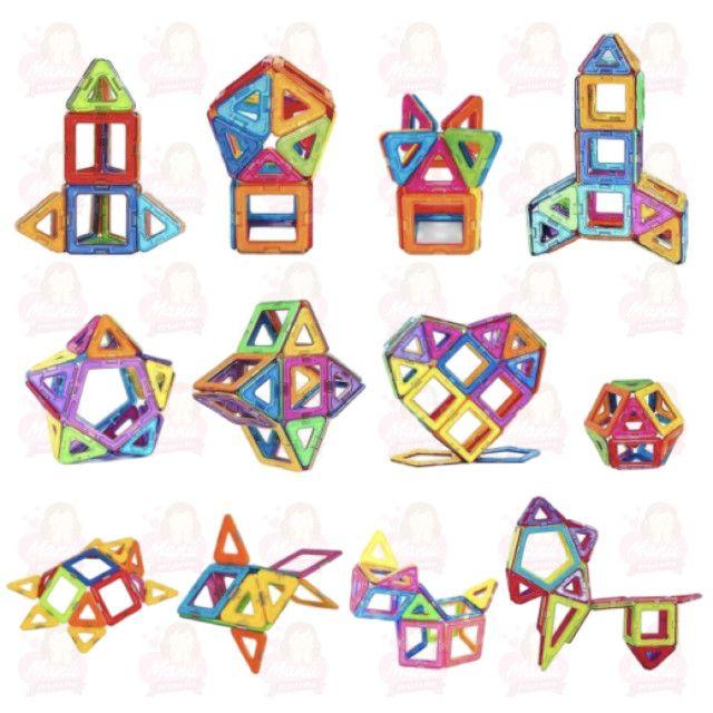 Blocos Magnéticos 52 peças completo com triângulos e quadrados - Foto 6