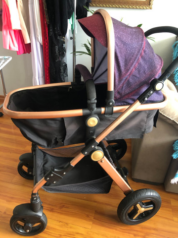 Carrinho de bebe importado, acompanha bebe conforto que encaixa no carrinho - Foto 6