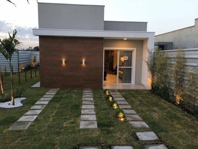 América Houses - Casa 2/4 duas suítes, 100%laje, mais lavabo e Pode FGTS na entrada