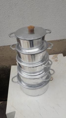 Jogo de panela alumínio batido Grosso - Foto 2