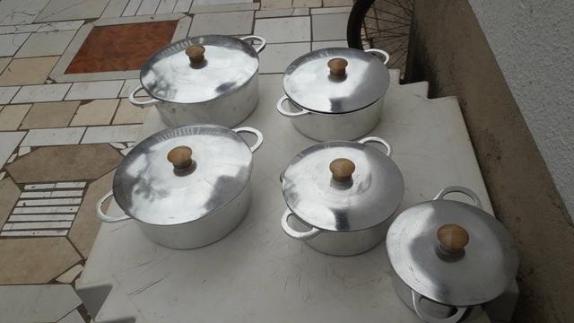 Jogo de panela alumínio batido Grosso - Foto 3