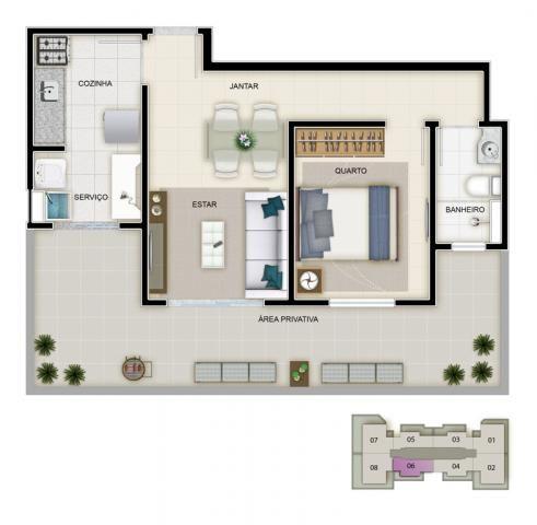 Apartamento à venda com 3 dormitórios em Caiçara, Belo horizonte cod:39851 - Foto 4