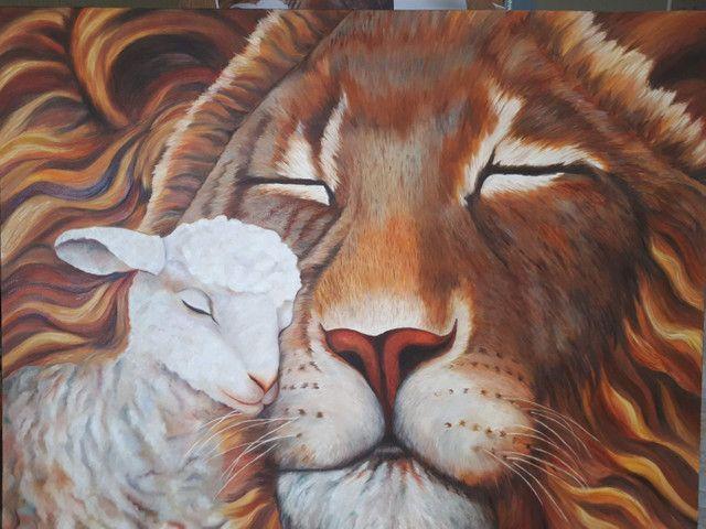 Quadro pintura a óleo sobre tela