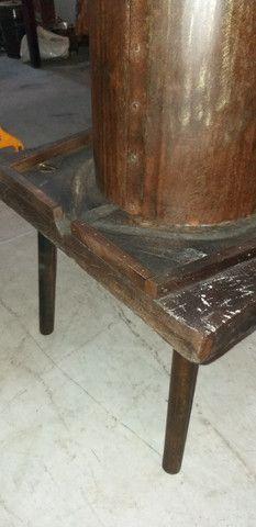 Antigo e grande prensador de torresmo, original, restaurado, completo, funcionando - Foto 3