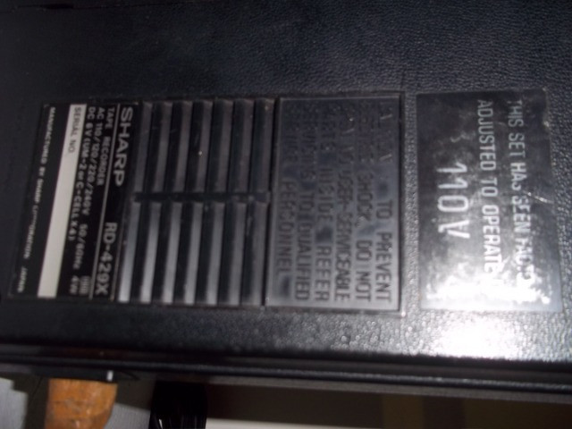 Gravador de Fita Cassete Sharp RD-429X - Foto 3