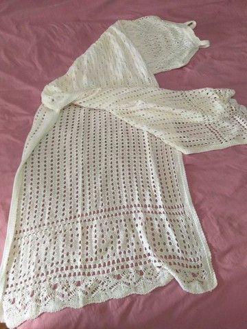 Vestido longo em tricô P/M - Foto 5