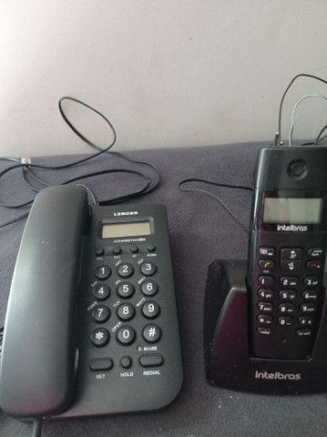 Vendo 3 telefones com identificador de chamadas