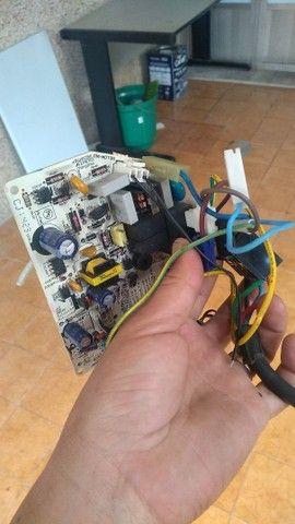 Placa e compressor de ar condicionado LG