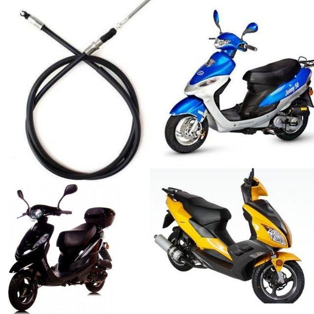 Cabo Freio Traseiro Scooter Shineray Bike/Retrô/Venice/Jonny50/Bull Spirit/Auguri SS50
