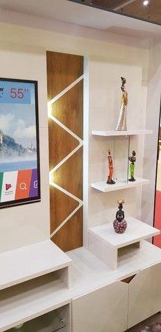 """Home Estante Cross com LED para Tv até 55"""" - Entrega Grátis e Imediata p/ Fortaleza - Foto 5"""