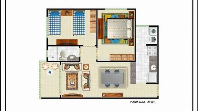 Lindo Apartamento Com 2 Quartos Documentaçao Gratis Em Maracanau - Foto 13