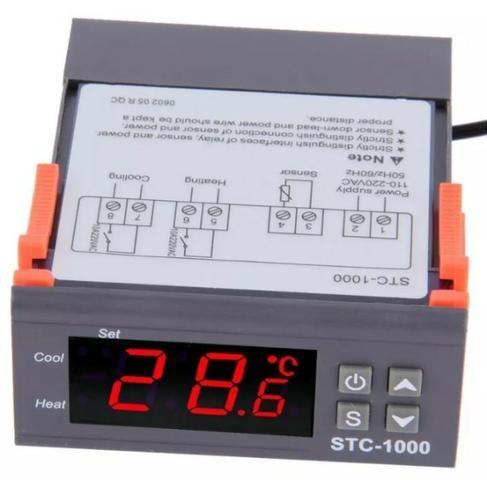 COD-AP16 Termostato Digital Stc-1000 Controlador De Temperatura 220V Automação - Foto 3
