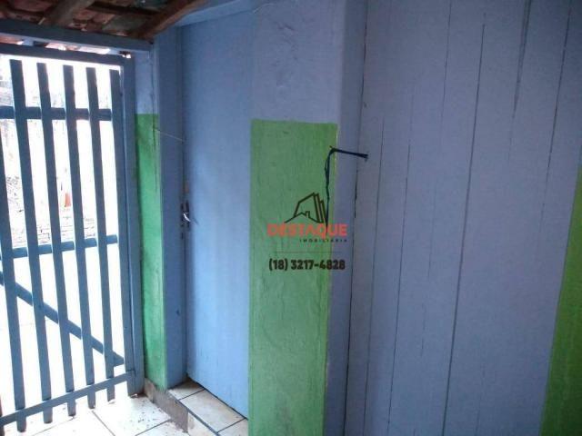 Casa com 3 dormitórios para alugar, 48 m² por R$ 450,00/mês - Vila Brasil - Presidente Pru - Foto 5