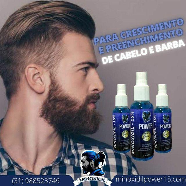 Minoxidil 15% - 120 ml + Barba/Cabelo.