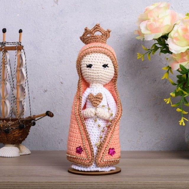 Nossa Senhora em amigurumi - Foto 5