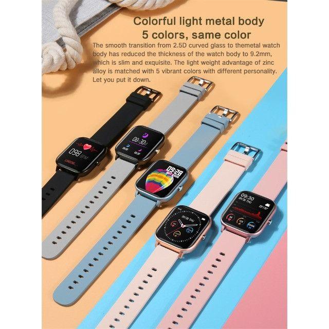 Fagger- * - - * -P8 Sports Smart Watch Fitness Heart Rate Smart Bracelet Touch-Screen IPX7 - Foto 3