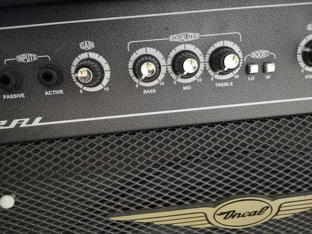 Contrabaixo + Amplificador O'Neal OCB600 (Baixo e Teclado) - Foto 2