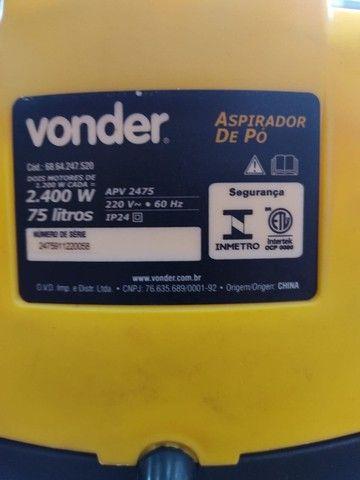 ASPIRADOR VONDER ÁGUA E PÓ. - Foto 3