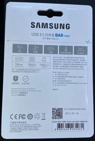 Pendrive Samsung Bar Plus Muf-128ba 128gb 3.1 Gen 1 - Foto 2