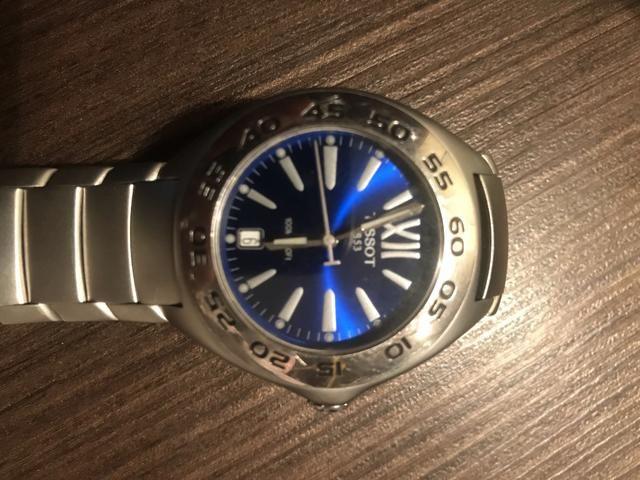 Relógio Tissot fundo Azul * Original * Aceito troca
