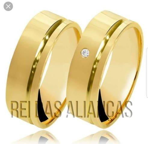 Alianças ouro 18 kilates / lindos modelos - Foto 6