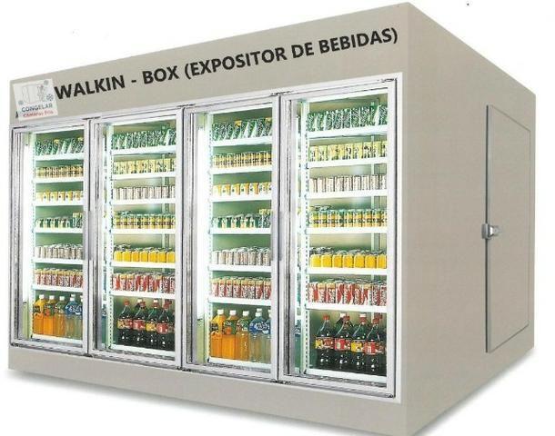 Expositor com portas de vidros.walk in box walk in cooler .camara fria com portas de vidro - Foto 4