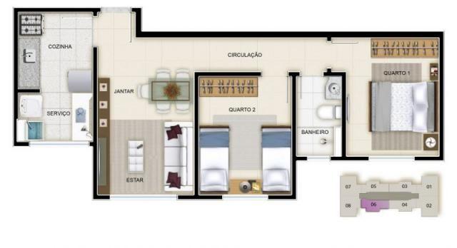Apartamento à venda com 3 dormitórios em Caiçara, Belo horizonte cod:39851 - Foto 3