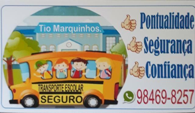 Transporte escolar ( escola Militar vila palmeira e bombeiros)BAIRRO CENTRO TAMBÉM FAÇO