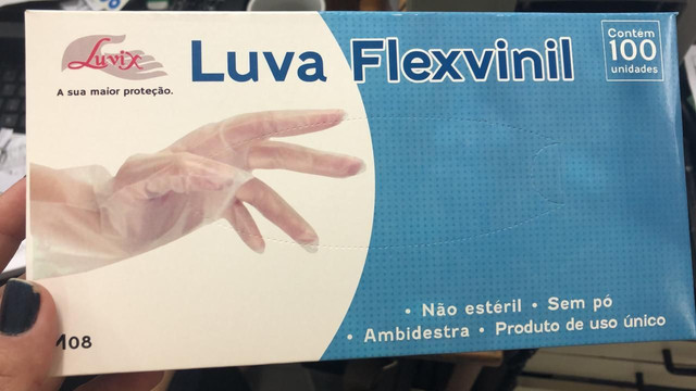 Luvas descartáveis Flex vinil sem pó - Foto 4