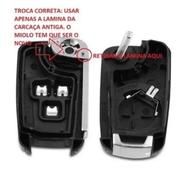 Carcaça Chave Canivete Gm Cruze Cobalt Spin Onix S10 Celta - Foto 3