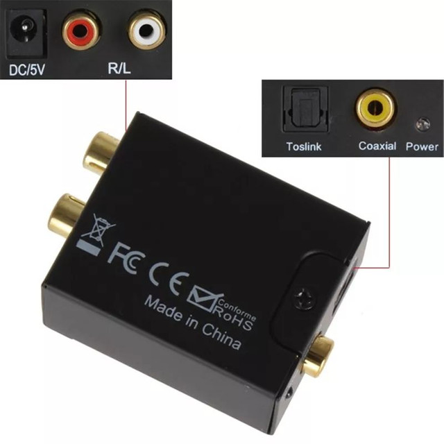Converso de áudio, óptico para RCA - Foto 3