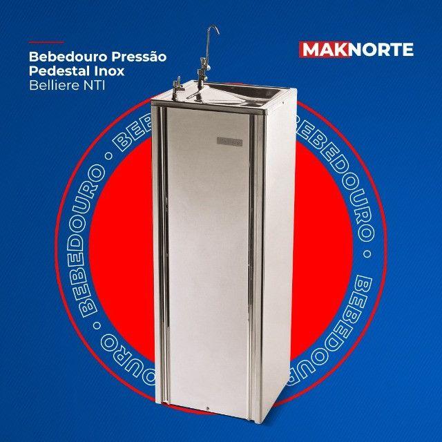 Bebedouro Pressão Pedestal Inox Belliere NTI