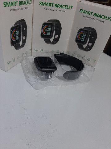 Relógio Smartwatch D20 - Bluetooth Pressão Arterial Frequência Cardíaca Oxigênio no sangue - Foto 3