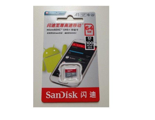 Cartão De Memória 64gb Micro Sd Sandisk Ultra - Classe 10, 12x Sem Juros  - Foto 3