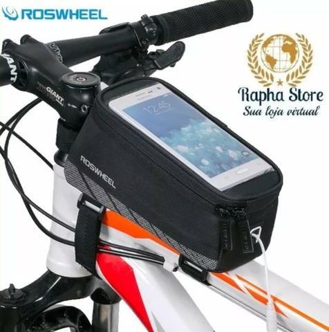 3753bbdaef1 Bolsa Porta Celular E Objetos Suporte Quadro Bike Bicicleta ...
