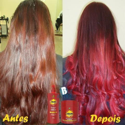Red Color Matizador Vermelho 500 g o Kit Hábito Cosmeticos - Foto 5
