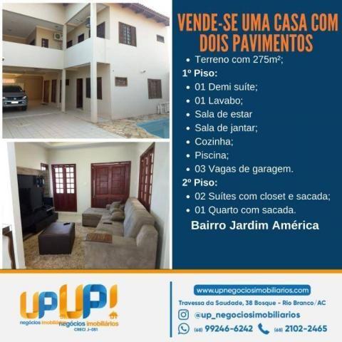 Casa com 3 dormitórios à venda, 300 m² por R$ 750.000,00 - Jardim América - Rio Branco/AC